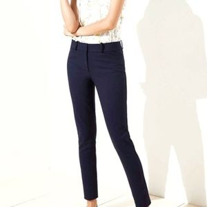 LOFT Julie Skinny Navy Blue Pants, 8